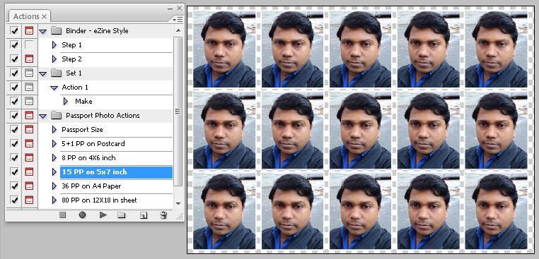 15 Passport Photo Action