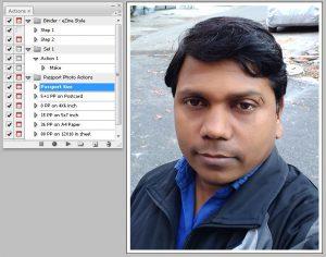 Passport photo action
