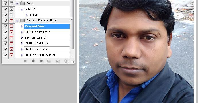 Passport Photo Action in Photoshop – Create Passport Photo Easily