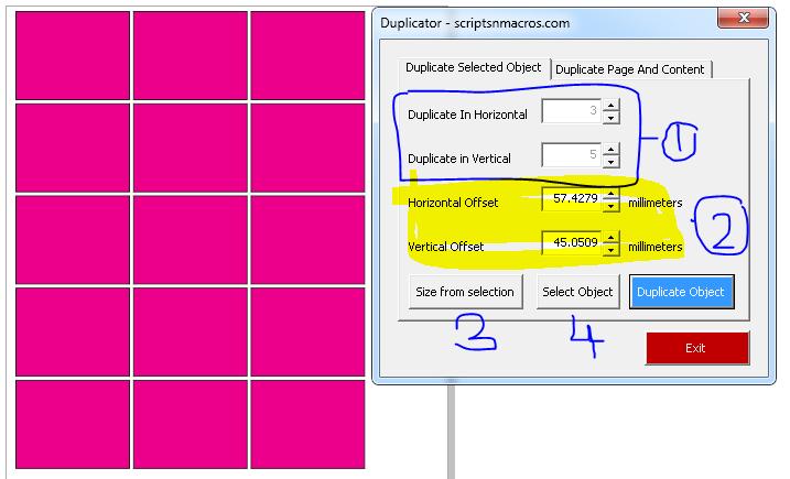 Duplicator Macro options
