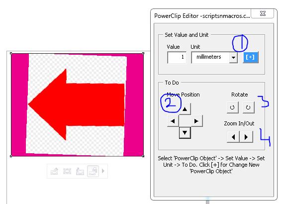 Powerclip editor option