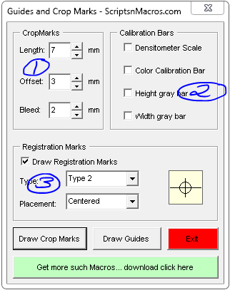 Guides and Crop Marks Maker - CorelDraw Macro