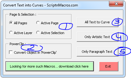Convert Text into Curves – CorelDraw Macro