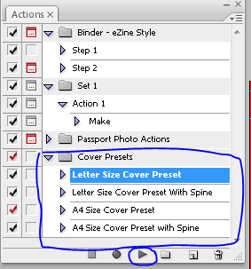 Photoshop action cover presets