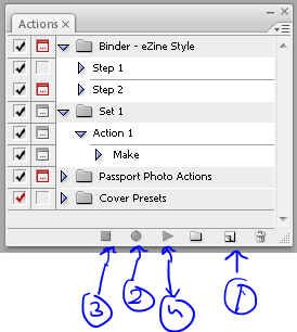 Record a photoshop action
