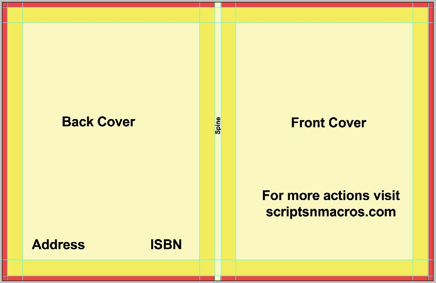 Lette size cover preset with spine